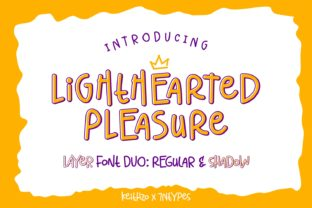 Print on Demand: Lighthearted Pleasure Script & Handwritten Font By Keithzo (7NTypes)