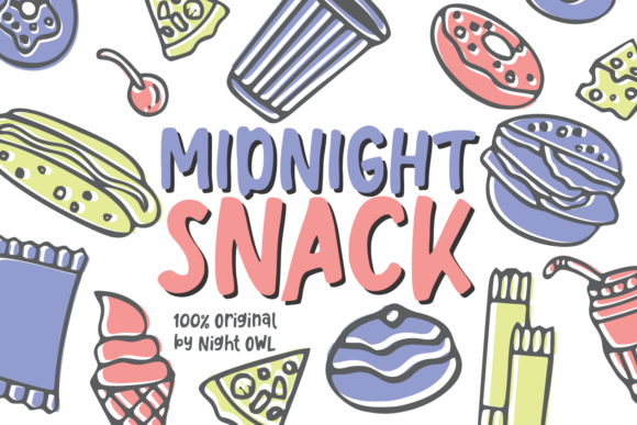 Like Snacking Font By Rifki (7ntypes) Image 3