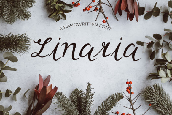 Print on Demand: Linaria Script & Handwritten Font By Eldamar Studio Fonts