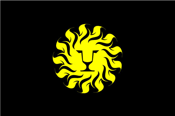 Download Free Lion Head In Sun Shine Vector Logo Graphic By Hartgraphic for Cricut Explore, Silhouette and other cutting machines.