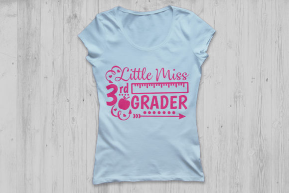 Little Miss 3rd Grade Svg Graphic By Cosmosfineart Creative Fabrica