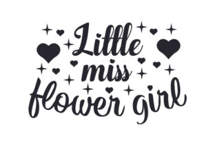 Little Miss Flower Girl Svg Cut Files 20810 Free Svg Files For Cricut Silhouette And Brother Scan N Cut