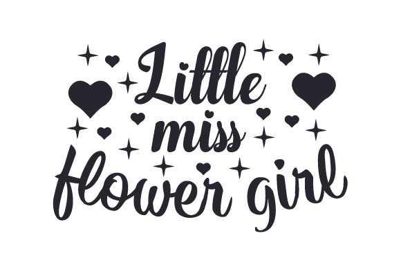 Little Miss Flower Girl Svg Cut File By Creative Fabrica