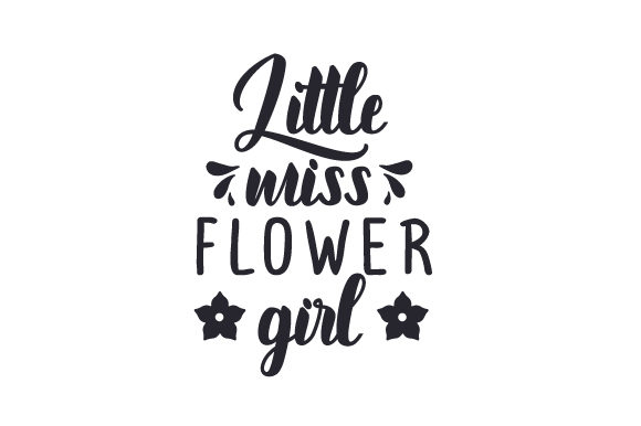 Download Free Little Miss Flower Girl Svg Cut File By Creative Fabrica Crafts for Cricut Explore, Silhouette and other cutting machines.