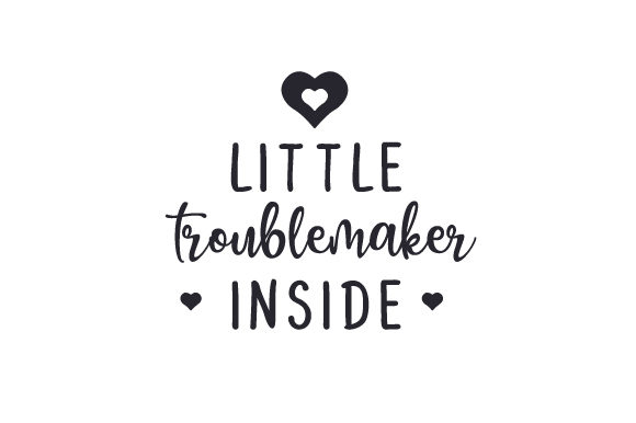 Download Free Little Troublemaker Inside Svg Cut File By Creative Fabrica for Cricut Explore, Silhouette and other cutting machines.