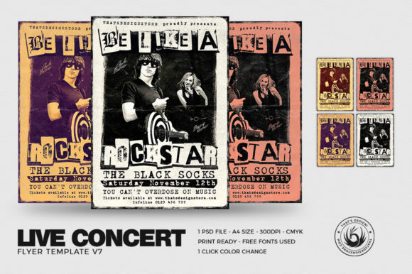 live concert flyer template graphic by thatsdesignstore creative