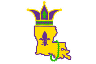 Louisiana State in Festival Colors Craft Design By Creative Fabrica Crafts