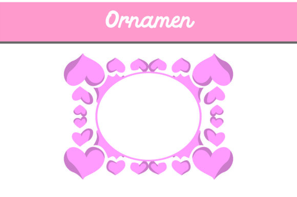 Print on Demand: Love Frame Ornament Gráfico Fondos Por Arief Sapta Adjie