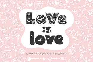 Print on Demand: Love is Love Decorativa Fuente Por Red Ink