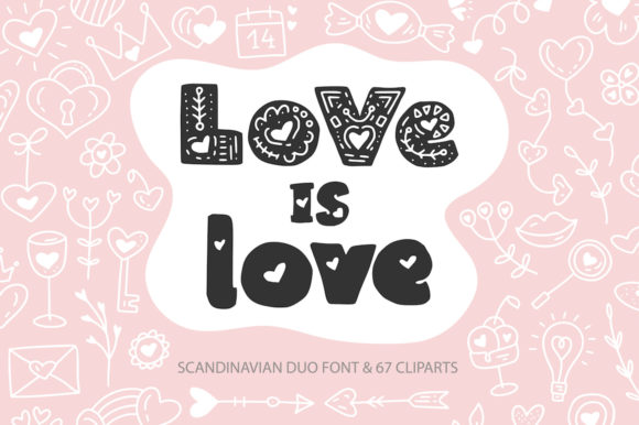 Print on Demand: Love is Love Decorative Font By Red Ink