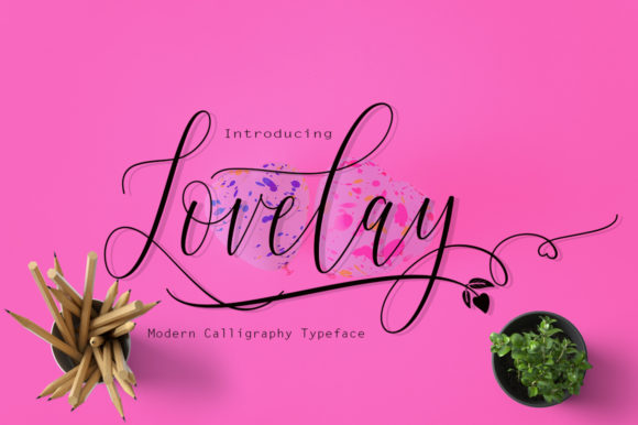 Print on Demand: Lovelay Script & Handwritten Font By Rudistudio