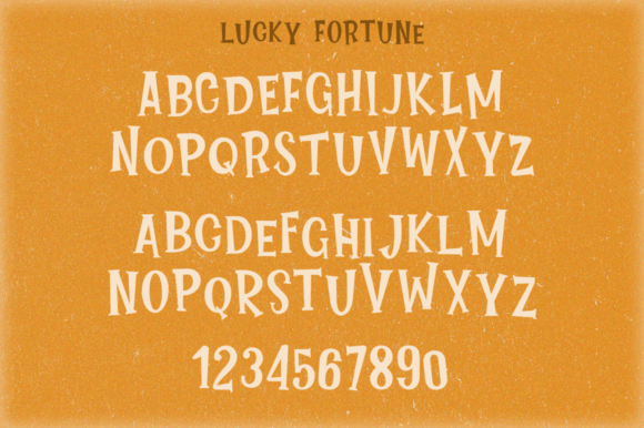 Print on Demand: Lucky Fortune Family Display Font By Pasha Larin - Image 7