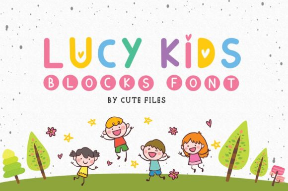 Print on Demand: Lucy Kids Sans Serif Font By Cute files