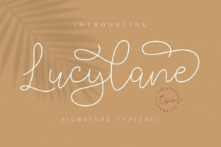 Print on Demand: Lucylane Script & Handwritten Font By craftsupplyco