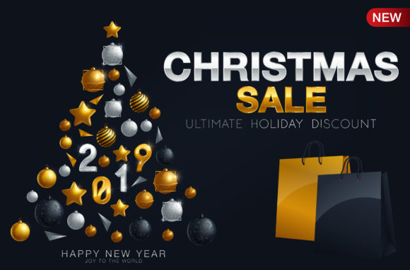 Download Free Luxury Christmas Sale Background Graphic By Inkwellapp for Cricut Explore, Silhouette and other cutting machines.