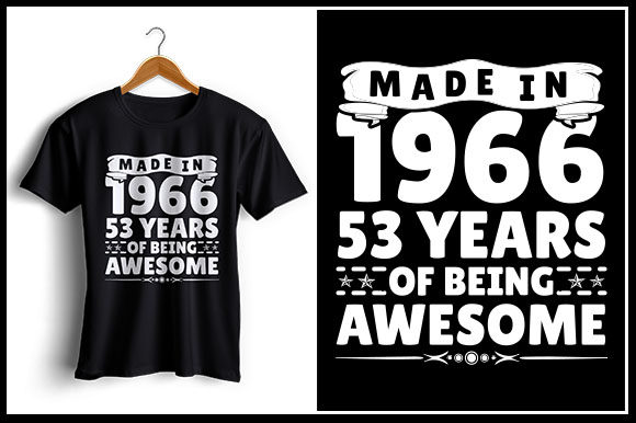 Download Free Made In 1966 53 Years Of Being Awesome Grafico Por Zaibbb for Cricut Explore, Silhouette and other cutting machines.