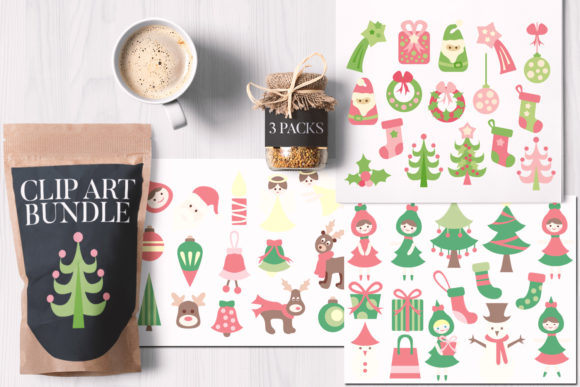 Print on Demand: Magical Christmas Bundle Graphic Illustrations By Revidevi