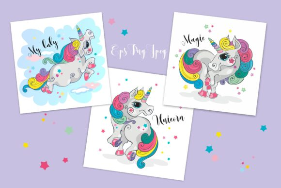 Magical Unicorns Graphic Illustrations By grigaola - Image 2