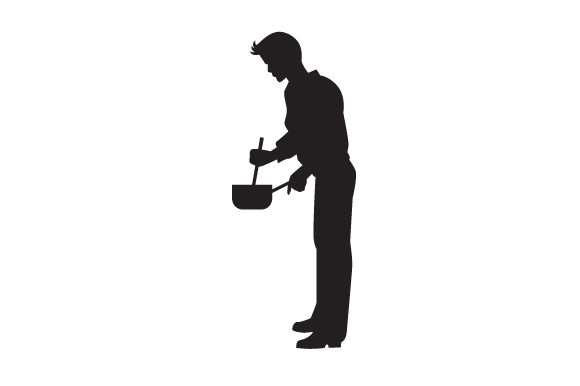 Download Free Man Cooking Silhouette Svg Cut File By Creative Fabrica Crafts for Cricut Explore, Silhouette and other cutting machines.