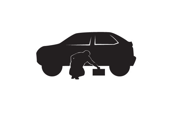 Download Free Man Fixing A Car Silhouette Svg Cut File By Creative Fabrica for Cricut Explore, Silhouette and other cutting machines.