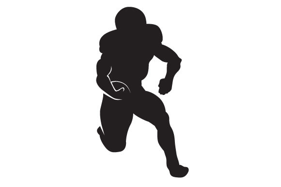Download Free Man Playing American Football Silhouette Svg Cut File By for Cricut Explore, Silhouette and other cutting machines.