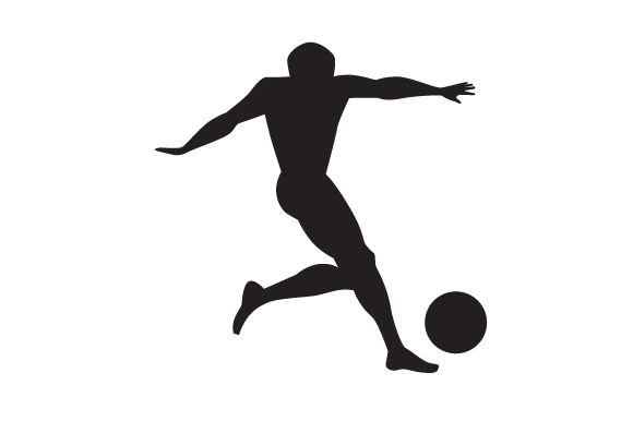 Download Free Man Playing Soccer Silhouette Svg Cut File By Creative Fabrica for Cricut Explore, Silhouette and other cutting machines.