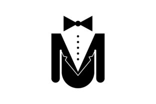 Print on Demand: Man Suit and Tie Logo Graphic Logos By WANGS