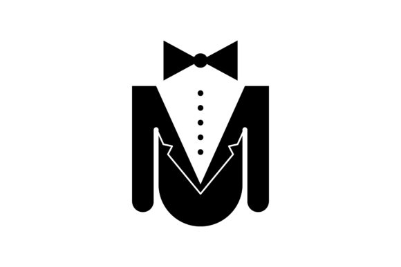 Download Free Man Suit And Tie Logo Graphic By Yahyaanasatokillah Creative for Cricut Explore, Silhouette and other cutting machines.