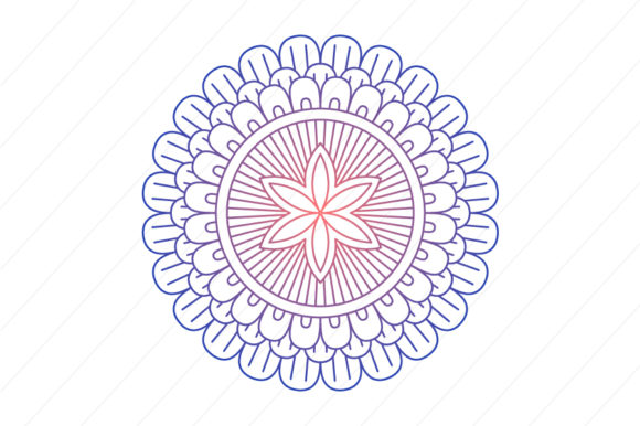 Print on Demand: Mandala Ornament Vector Image Graphic Crafts By back1design1