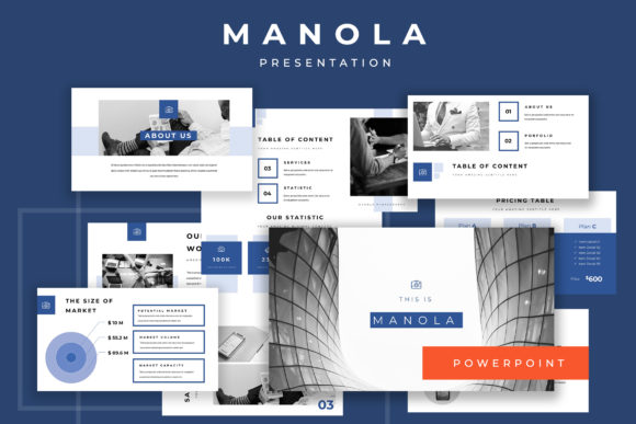 Manola Pitch Deck Powerpoint Presentation Graphic By TMint