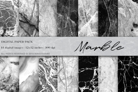 Marble Digital PapeR Graphic Backgrounds By damlaakderes