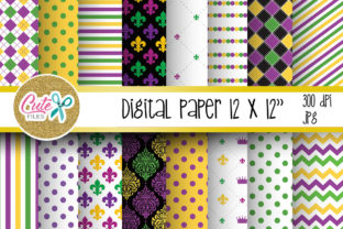 Download Free Mardi Gras Digital Paper For Scrapbooking Graphic By Cute Files for Cricut Explore, Silhouette and other cutting machines.