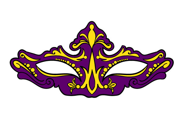 Mardi Gras Mask In Festival Colors Svg Cut File By Creative