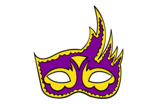 Mardi Gras Mask in Festival Colors Craft Design By Creative Fabrica Crafts