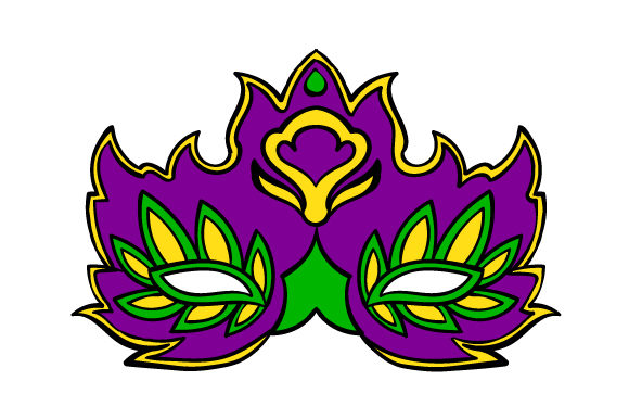 Mardi Gras Mask in Festival Colors Mardi Gras Craft Cut File By Creative Fabrica Crafts - Image 1