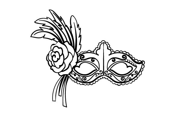 Download Free Mardi Gras Mask In Festival Colors Svg Cut File By Creative for Cricut Explore, Silhouette and other cutting machines.
