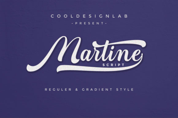 Print on Demand: Martine Script Script & Handwritten Font By Cooldesignlab