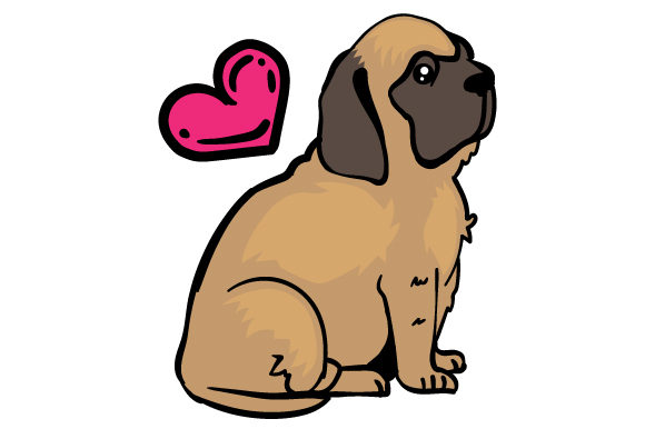 Download Free Mastiff Dog With A Heart Svg Cut File By Creative Fabrica Crafts for Cricut Explore, Silhouette and other cutting machines.