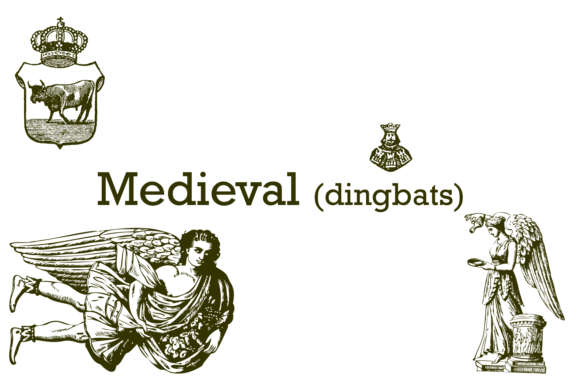 Print on Demand: Medieval Dingbats Font By Intellecta Design