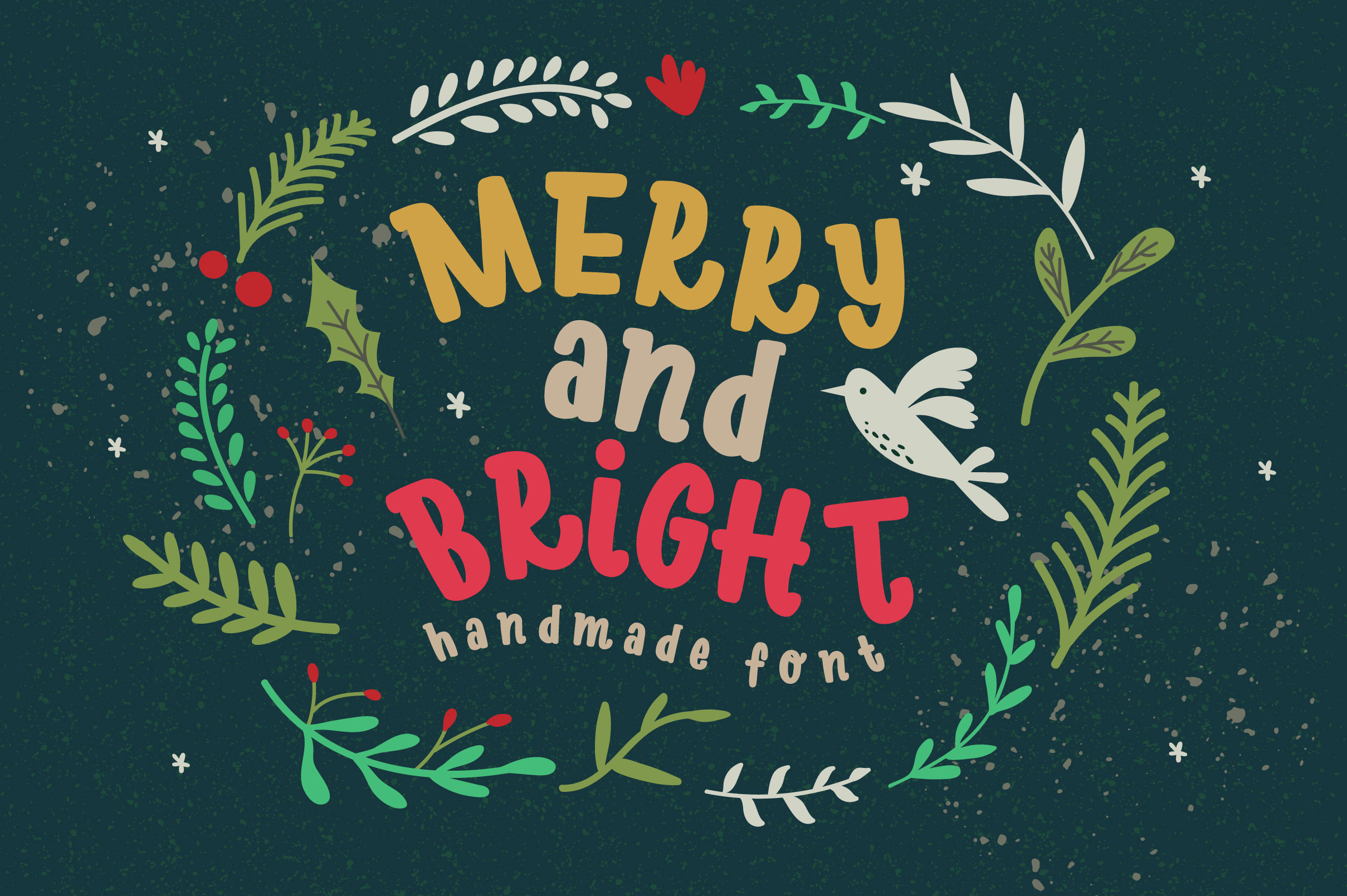 Download Free Merry Bright Font By Caoca Studios Creative Fabrica for Cricut Explore, Silhouette and other cutting machines.