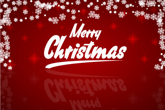 Print on Demand: Merry Christmas Background Graphic Backgrounds By Zaibbb
