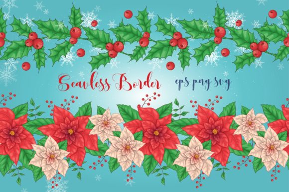 Print on Demand: Merry Christmas Bundle Graphic Illustrations By nicjulia - Image 5