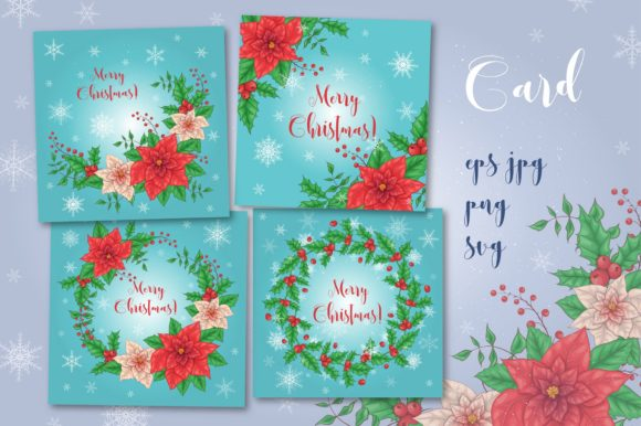 Print on Demand: Merry Christmas Bundle Graphic Illustrations By nicjulia - Image 7