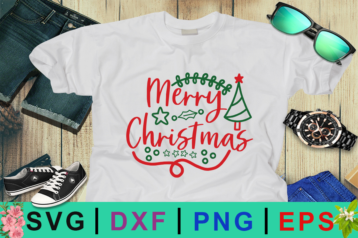 Download Free Merry Christmas Graphic By Design Palace Creative Fabrica for Cricut Explore, Silhouette and other cutting machines.