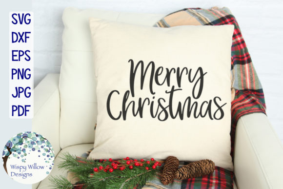 Download Free Merry Christmas Graphic By Wispywillowdesigns Creative Fabrica for Cricut Explore, Silhouette and other cutting machines.