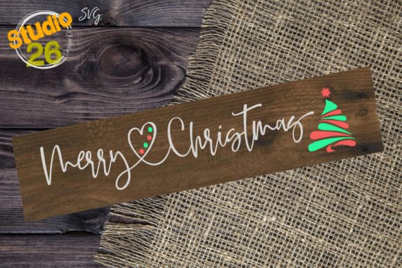 Download Free Merry Christmas With Tree Svg Graphic By Studio 26 Design Co for Cricut Explore, Silhouette and other cutting machines.