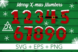 Print on Demand: Merry Xmas Numbers Graphic Illustrations By davidrockdesign