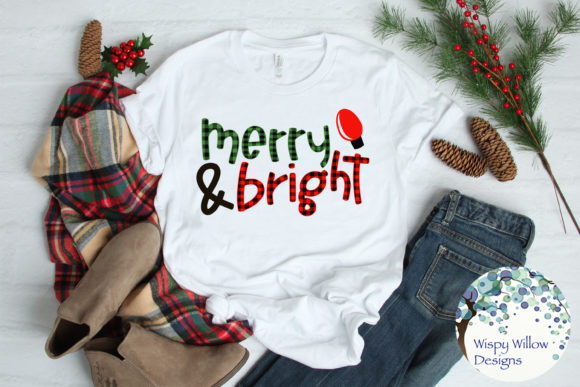 Download Free Merry And Bright Buffalo Plaid Christmas Svg Graphic By for Cricut Explore, Silhouette and other cutting machines.