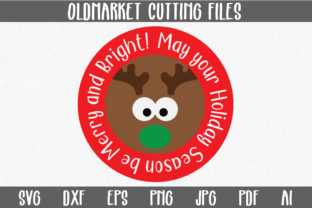 Merry and Bright - Christmas SVG Cut File Graphic By oldmarketdesigns