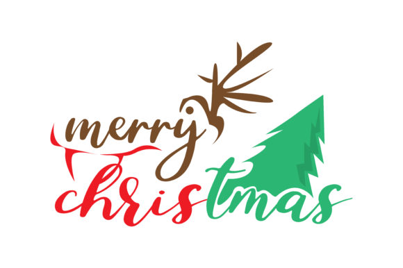 Download Free Merry Christmas Graphic By Thelucky Creative Fabrica for Cricut Explore, Silhouette and other cutting machines.